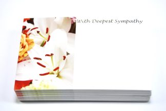 With Deepest Sympathy - White Flowers florist cards celloexpress