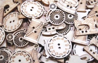 Wooden Buttons and Cabochons