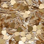 30mm Gold Wooden Pegs
