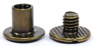 6mm Antique Bronze Chicago Screws 2