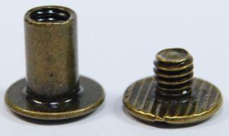 8mm Antique Bronze Chicago Screws 2