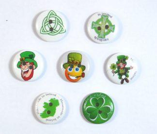 20mm Irish Themed Buttons