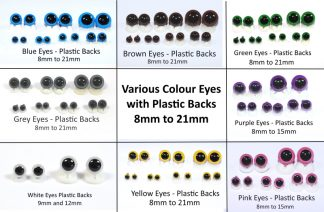 Colour Eyes with Plastic Backs