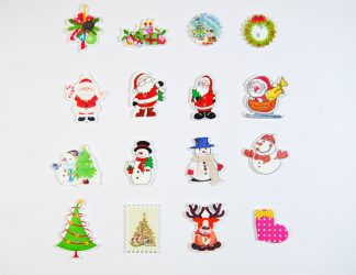 Christmas Wooden Character Buttons